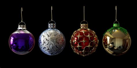 christmas baubles decorations 3d model obj 3ds fbx dxf stl
