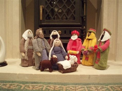 knitted nativity scene christmas craft entry into the