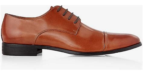 express brown leather oxford dress shoe in brown for