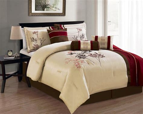 best bed comforter best comforter set kohls with machine washable red brown