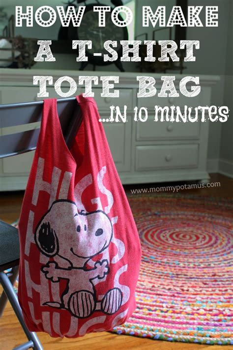 pattern for t shirt tote bag how to make a no sew t shirt tote bag in 10 minutes