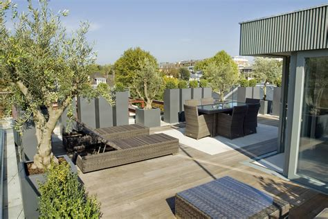 roof terrace design in st john s wood nw8 by garden builders london