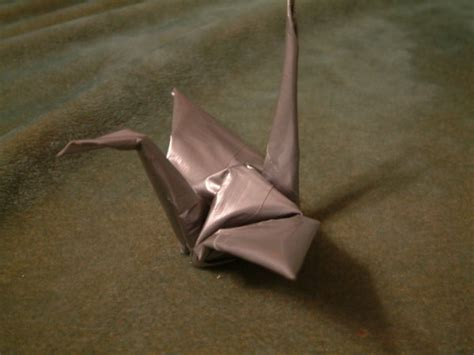 Duct Origami - duct origami crane by squirrel lord on deviantart