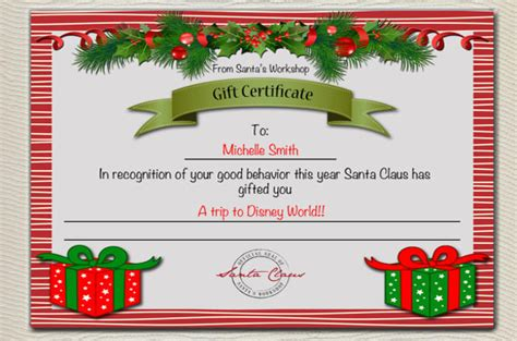 christmas gift certificate templates word  psd  premium templates