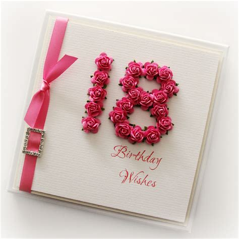 Ideas For 18th Birthday Cards Handmade - 18th birthday card keepsake card gift boxed paper roses
