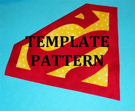 superman logo template for cake applique pdf template pattern only superman logo new by