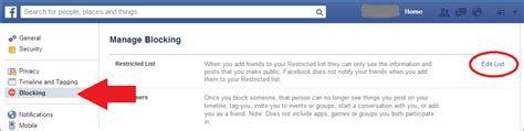 how do i section someone how can i see my restricted friends list on facebook