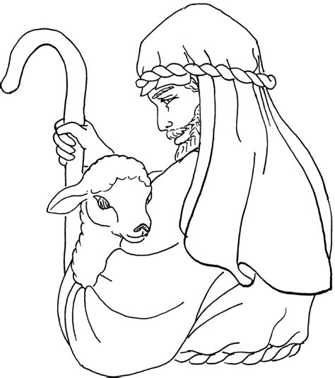 the shepherd coloring page
