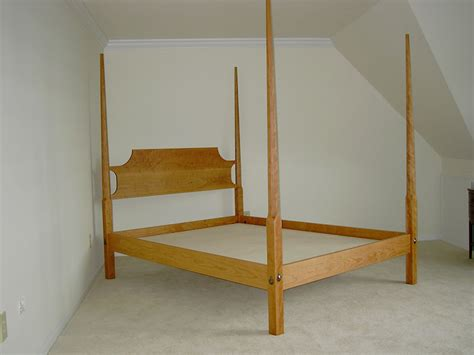 pencil post bed shaker cherry pencil post bed four poster handmade bed in vt