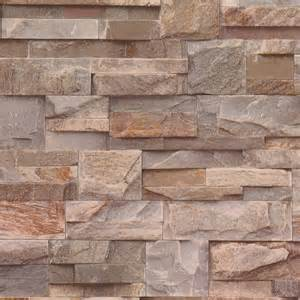 Brown / Grey   J27408   Natural Brick Stone Effect   Muriva Wallpaper