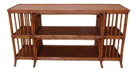 Ethan Allen Wicker Furniture by Ethan Allen Rattan Media Console Sofa Table Chairish