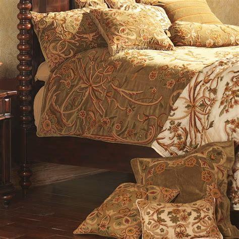 Brown Velvet Duvet Cover crewel bedding nouveau chocolate brown cotton velvet