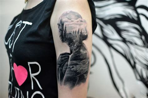 double down tattoo beautiful surrealist exposure tattoos mash up