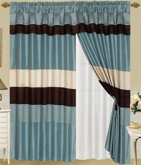 venetian curtain venetian blue brown beige faux silk window curtain