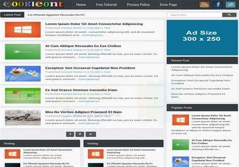 free blogger themes one column googleont responsive blogger template 2014 free download