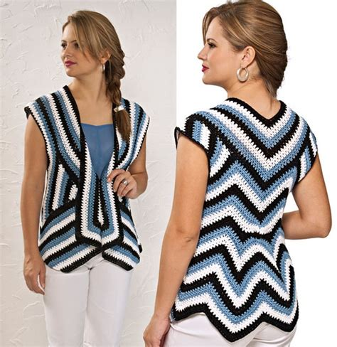 pattern sleeveless cardigan striped and sleeveless crochet cardigan pattern crochet