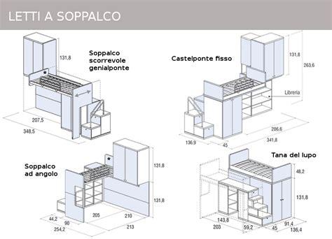 costruire letto a soppalco mobili doimo cityline misure e componibilit 224