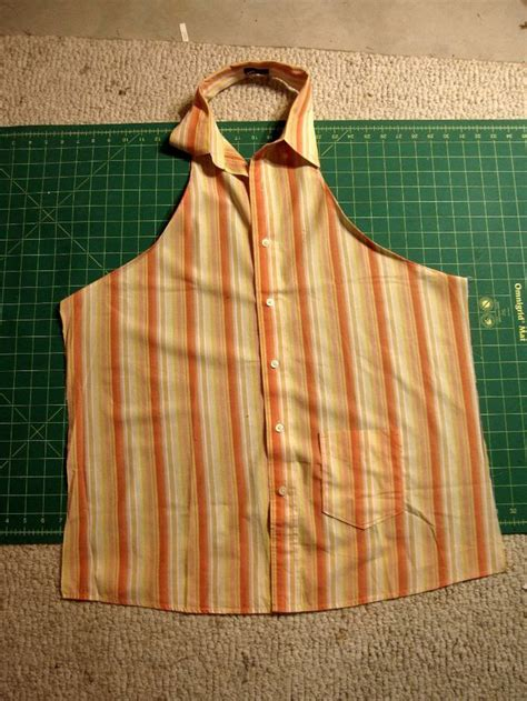 Pattern For Shirt Apron | apron tutorial from skirt to apron man shirt crafts