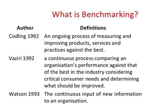what is bench marking benchmarking