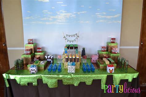 decorations in minecraft partylicious events pr minecraft birthday