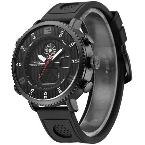 Special Jam Tangan Pria Cowok Naviforce Original Leather Black weide jam tangan analog digital pria wh6106 black black jakartanotebook