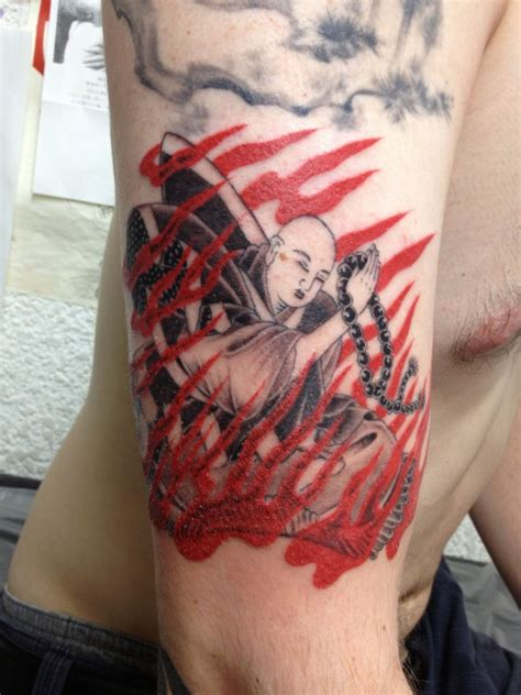 burning monk tattoo 20 best tattoos of the week aug 14th to aug 20th 2013