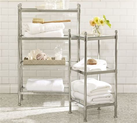 Metal Etagere Bathroom Metal Etagere Traditional Bathroom Cabinets And Shelves By Pottery Barn