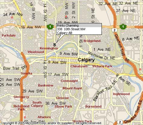 calgary city map streets location of prints charming in calgary alberta