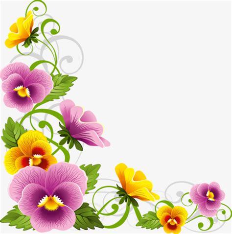 imagenes de flores ilustradas beautiful flowers border frame flowers pattern frame
