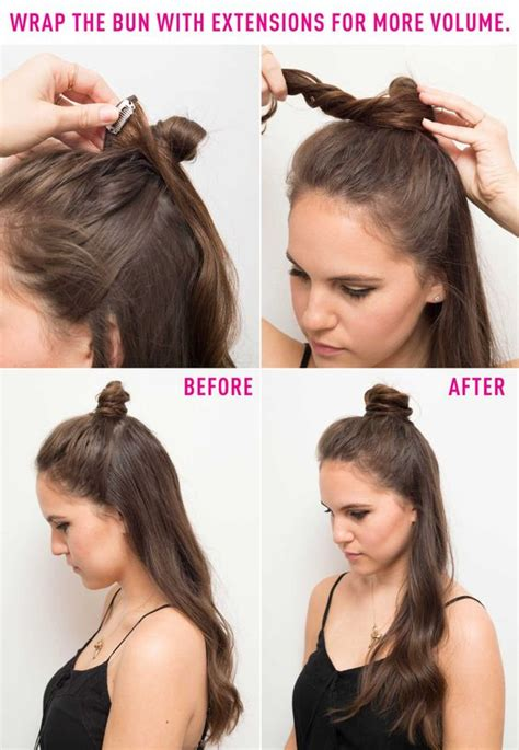 Halfway Up Hairstyles by Half Bun Buns And Bun Hairstyles On