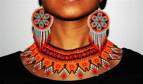 Huichol Jewelry Sets Native American Jewelry Seed Bead