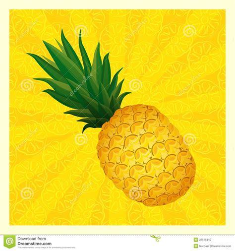 Pineapple Yellow yellow pineapple background vector illustration stock