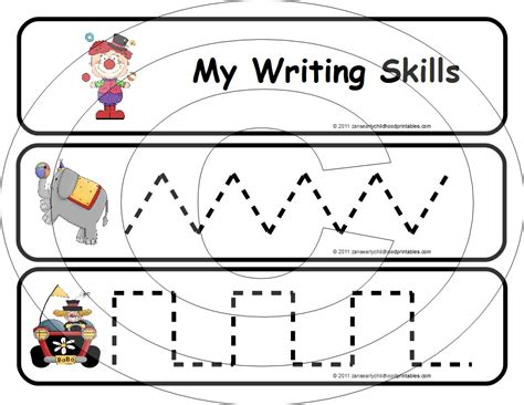 Early Writing Worksheets 7 best images of early childhood worksheets printables