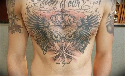 flying dutchman tattoo owl chest tattoos flying dutchman and chest on