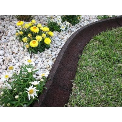 home depot flower bed edging ecoborder 4 ft brown rubber landscape edging ecobrd brn
