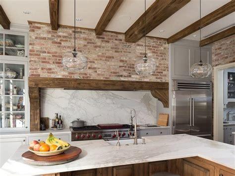 brick feature wall kitchen kitchens design ideas 47 brick kitchen design ideas tile backsplash accent