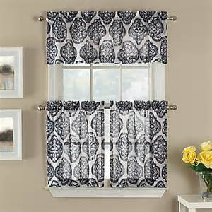 Sheer Tier Curtains Castil Semi Sheer Window Curtain Tier Pair And Valance Pair Collection Bed Bath Beyond
