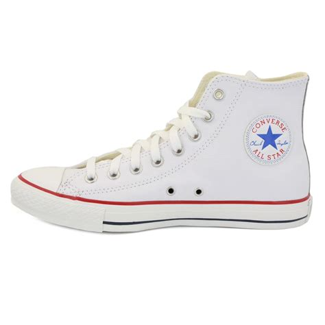 Converse White converse all leather 132169c unisex laced leather