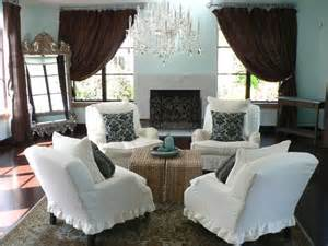 Chocolate Brown Slipcovers Say Quot Oui Quot To French Country Decor Interior Design