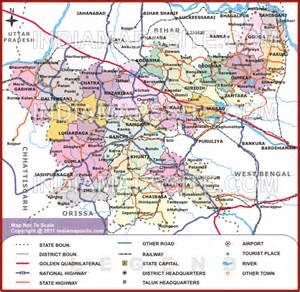 Jharkhand by Jharkhand Political Map Political Map Of Jharkhand