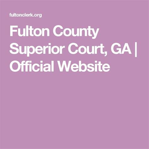 Fulton County Superior Court Clerk Search Best 25 Superior Court Ideas On Passport