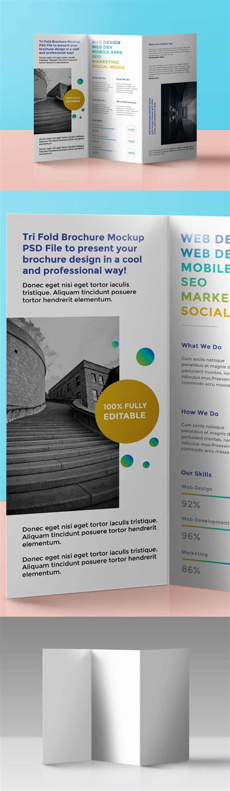 tri fold brochure template psd free psd mockup templates 28 mockups freebies