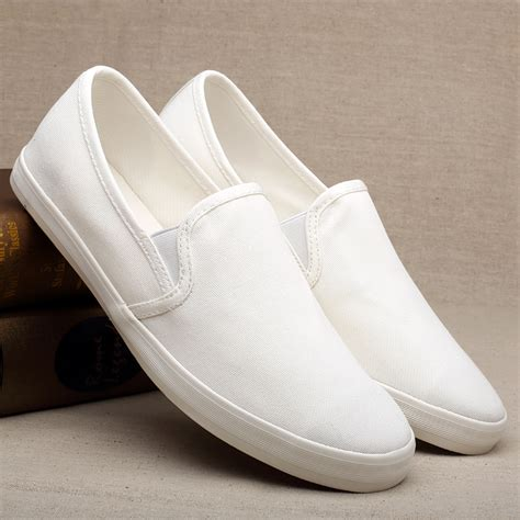 Slip On Putih Solid aliexpress buy shoes loafers solid color white