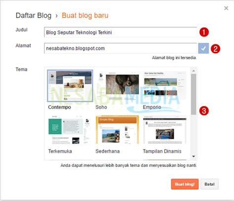 cara membuat blog esa unggul langkah langkah cara membuat blog judul situs