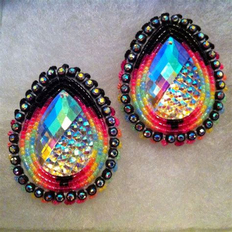 beaded american earrings 17 best images about bead work and tattoos on