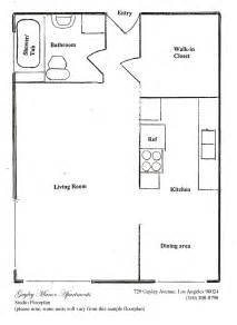 studio floorplan floorplans gayley manor apartments