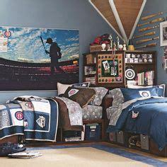 store it bed corner unit sets baseball theme bedrooms on boys baseball
