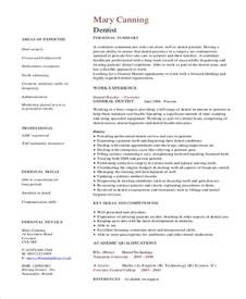 Dentist Curriculum Vitae Templates   8  Free Word, PDF