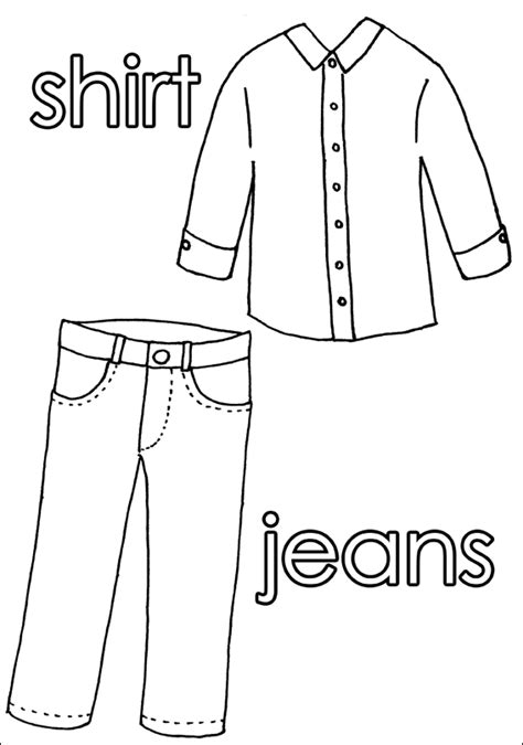 Coloring Pages Clothing by Clothing Free Coloring Pages