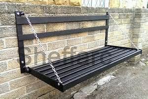 fold wall bench 2 seater space saving wall mounted foldable metal garden